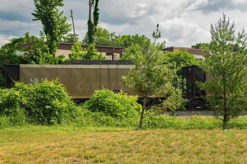 Норфолк и южный поезд транспортируя уголь стоковые фото