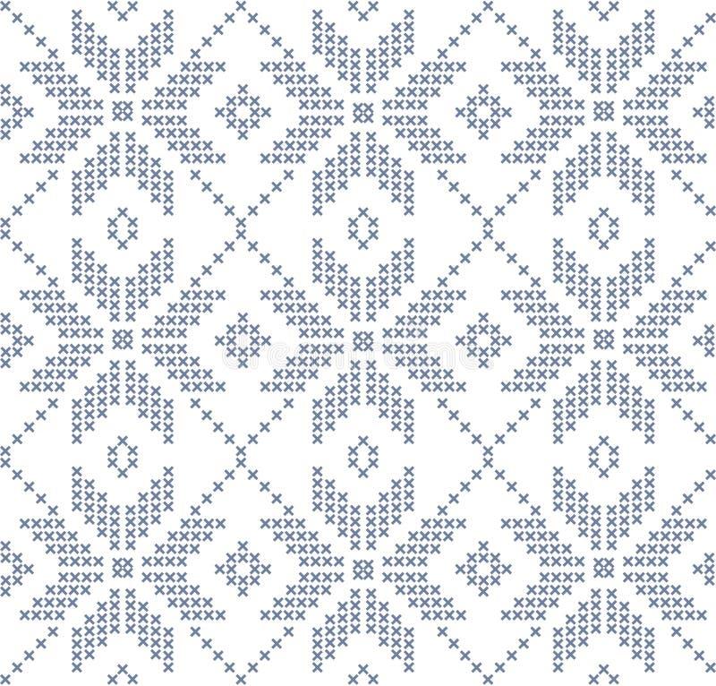 Нордическая безшовная картина иллюстрация вектора