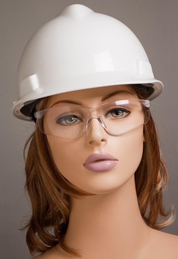 носить безопасности манекена шлема стоковые изображения rf