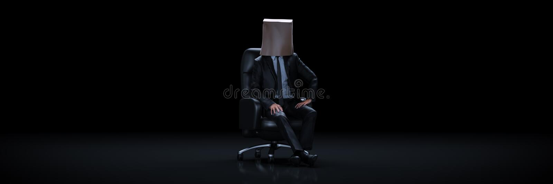 носить бизнесмена мешка бумажный 3d иллюстрация штока