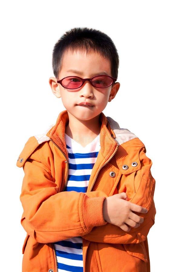 носить куртки мальчика померанцовый стоковые фото