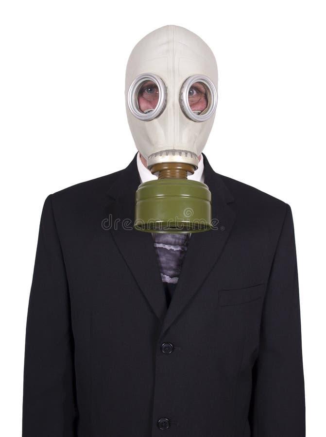 носить маски противогаза бизнесмена стоковые изображения