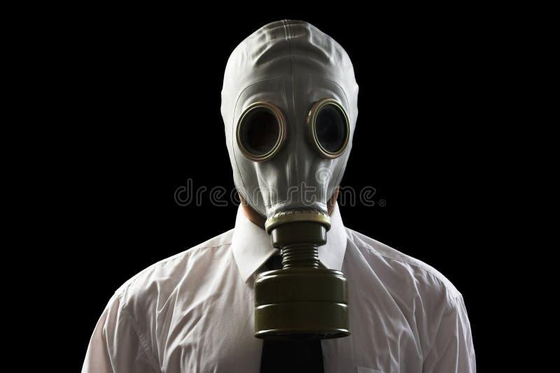 носить маски противогаза бизнесмена стоковая фотография rf