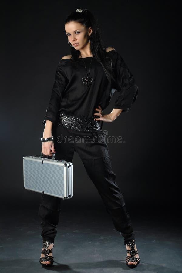 носить черной девушки одежды сексуальный стоковая фотография rf