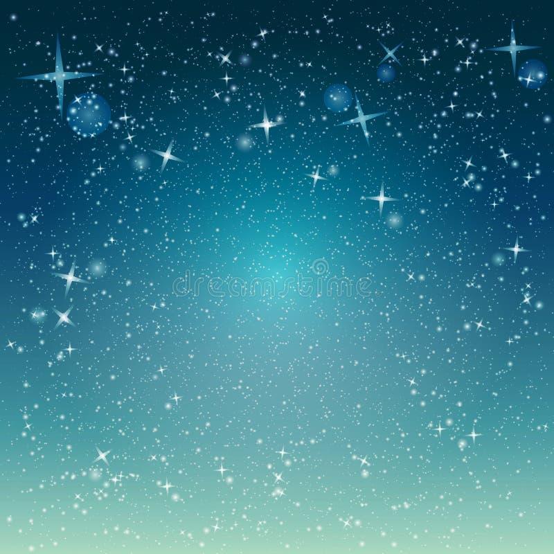 носит вектор santa ночи иллюстрации подарков claus рождества Снежности сверкнают абстрактная предпосылка с snowf иллюстрация вектора