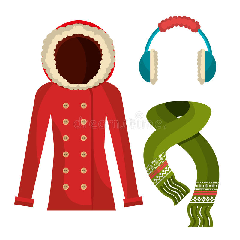 Носка, одежды и аксессуары зимы бесплатная иллюстрация