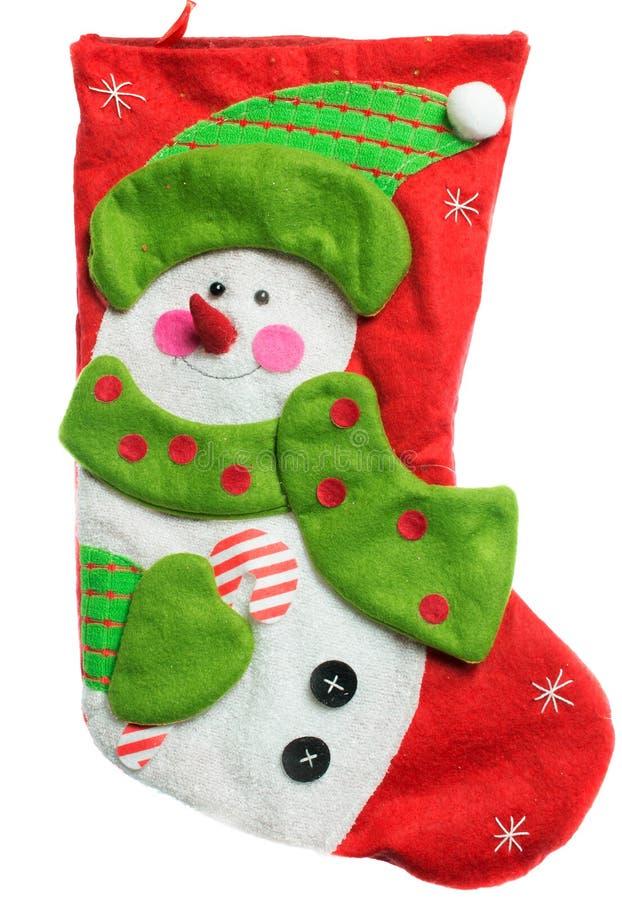 носок красного цвета рождества стоковая фотография