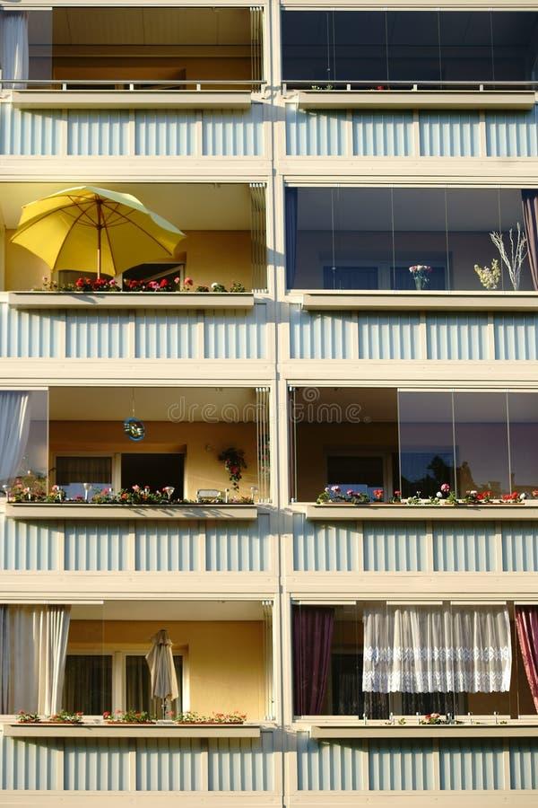 Ностальгические балконы стоковое изображение rf