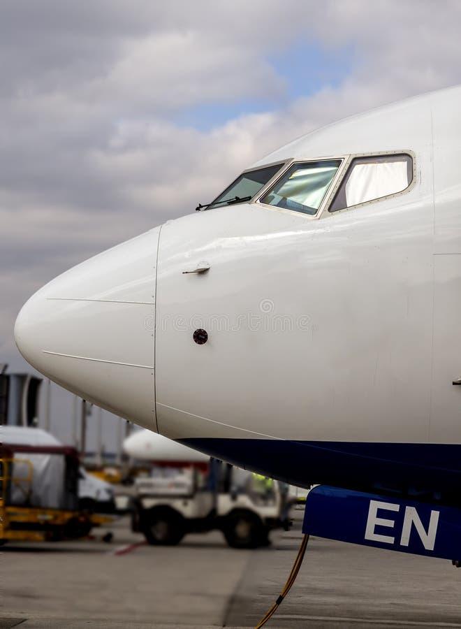 Нос Боинга 737 стоковая фотография rf