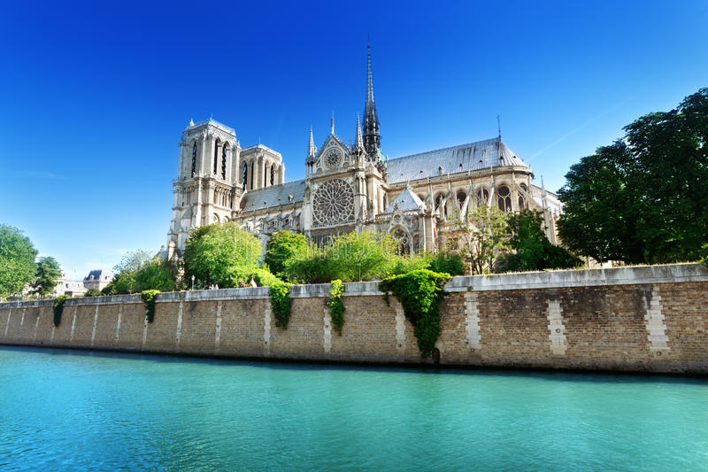 Нотр-Дам Париж, Франция стоковое изображение