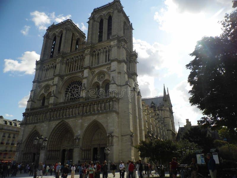 Нотр-Дам Париж Catedral стоковые фото