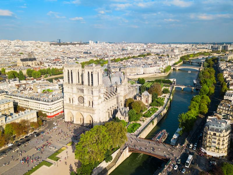 Нотр-Дам de Париж, франция стоковые фотографии rf