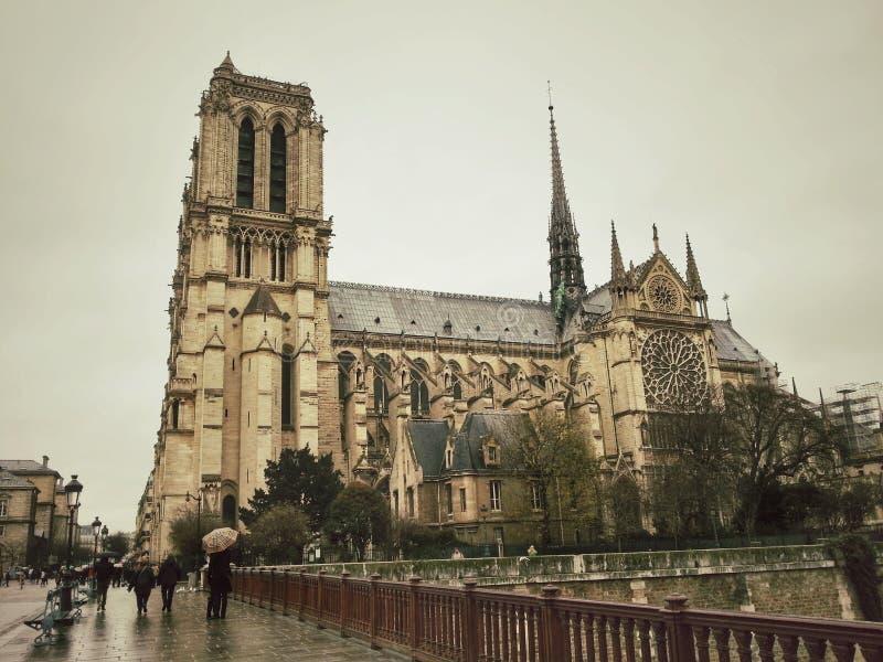 Нотр-Дам de Париж, франция стоковое изображение rf