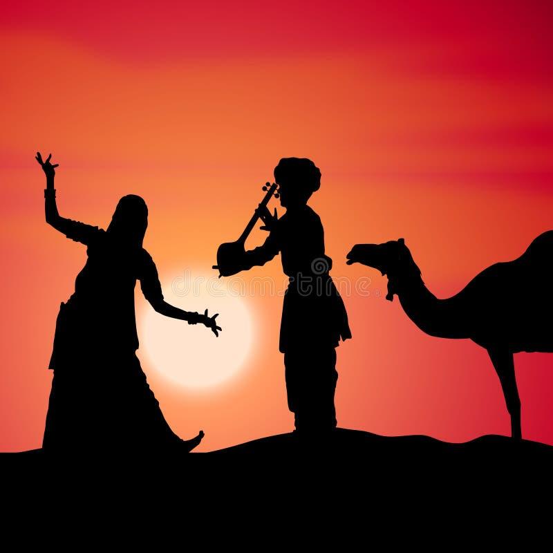 нот Индии танцульки фольклорное иллюстрация штока