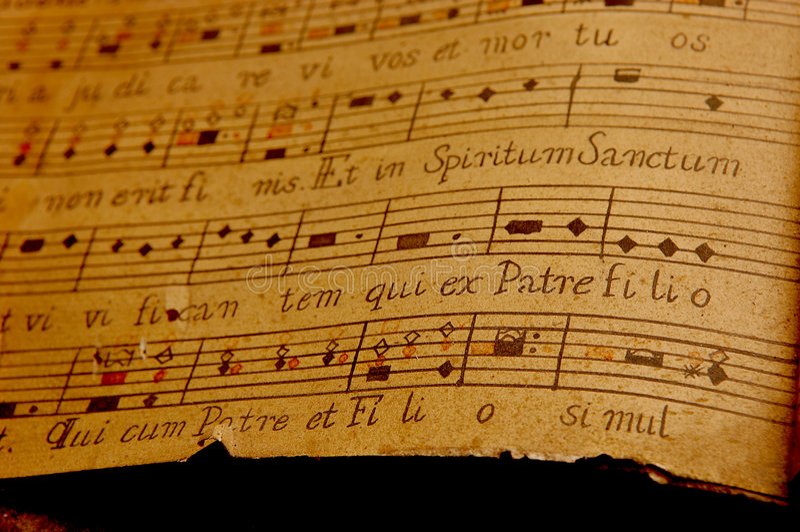 нот латыни церков стоковое изображение rf