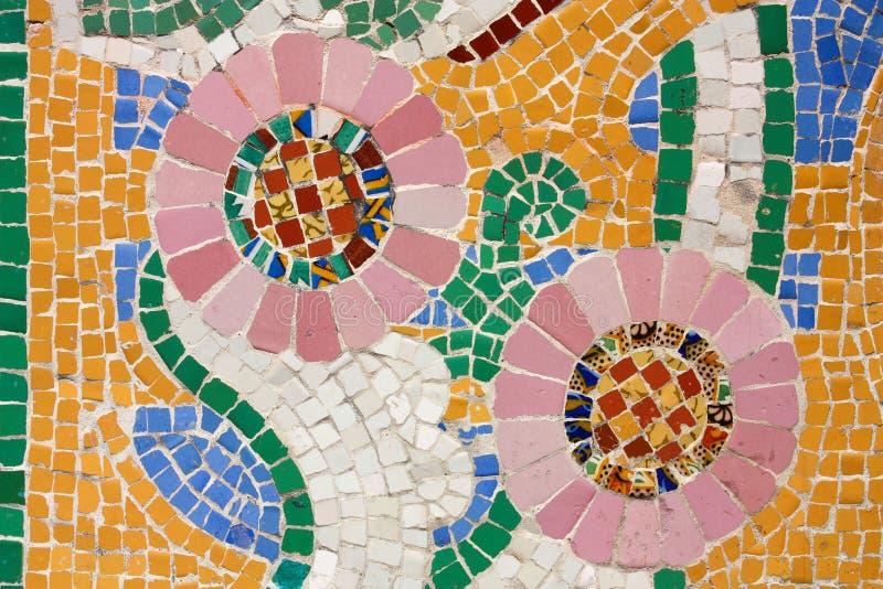 нот мозаики залы catalana флористическое стоковые изображения