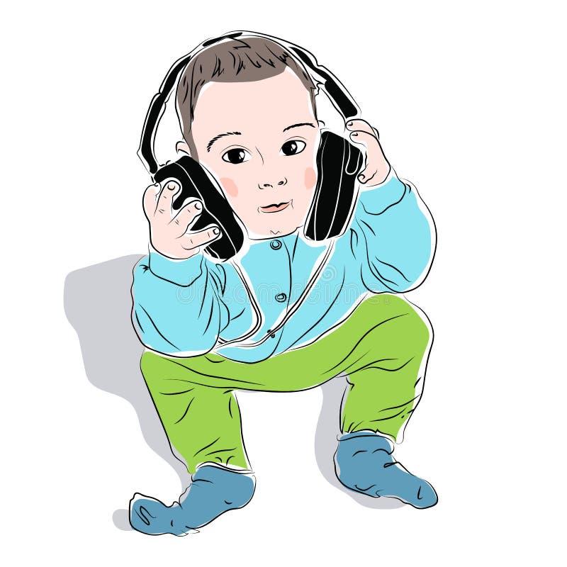 Мальчик в наушниках картинка для детей