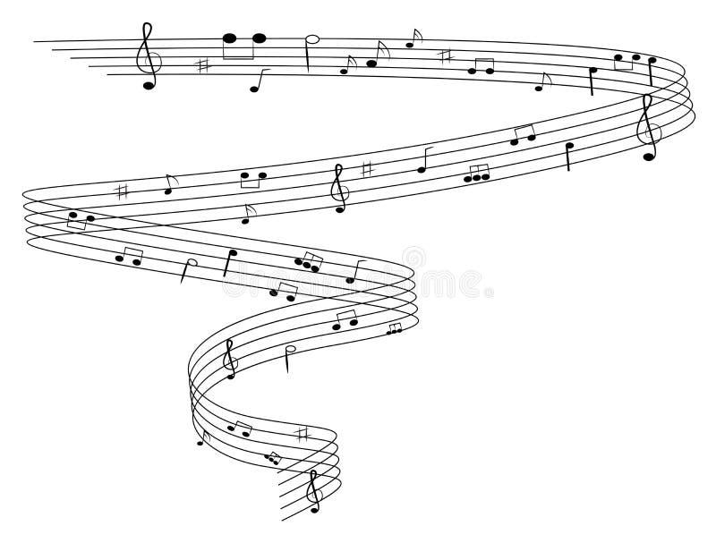 нот предпосылки в стиле фанк иллюстрация вектора
