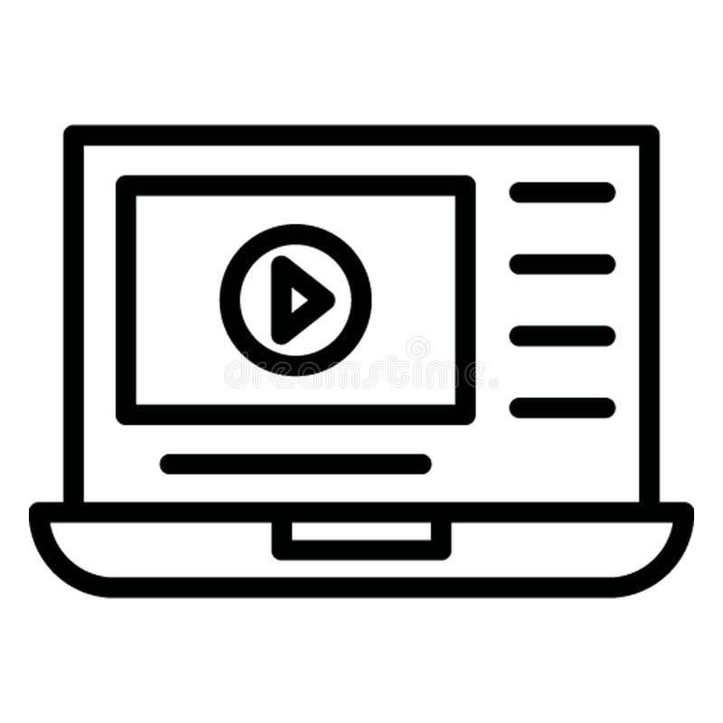 Ноутбук изолировал значок вектора который может легко доработать иллюстрация вектора