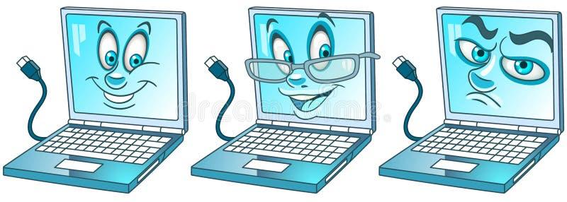 Ноутбук Компьютер-книжка Современная концепция технологий иллюстрация штока