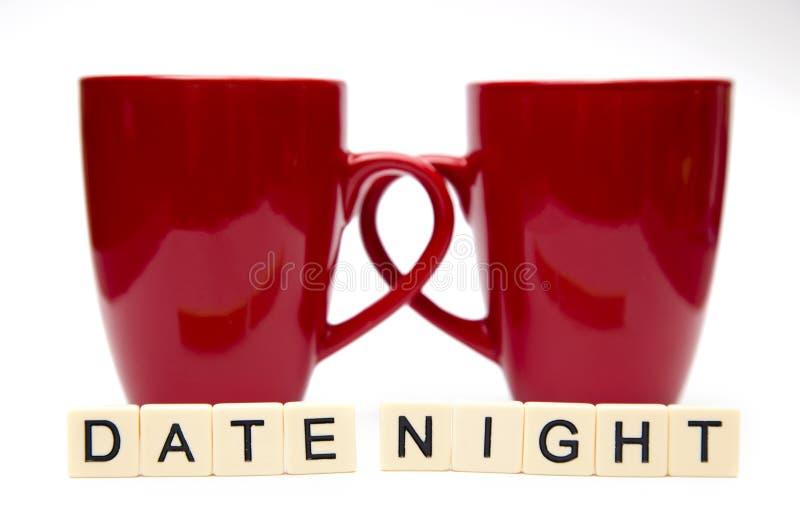 Ноча даты стоковая фотография