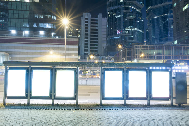 ноча афиши пустая стоковая фотография rf