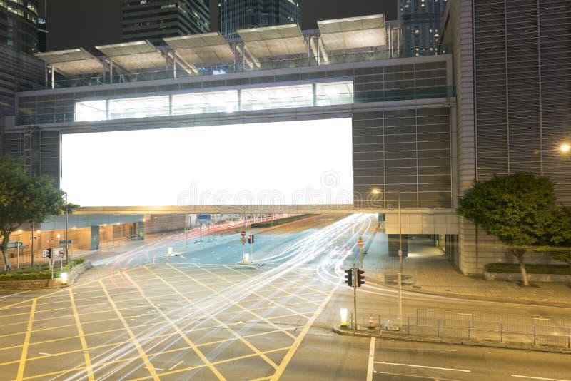 ноча большой афиши пустая стоковые изображения rf