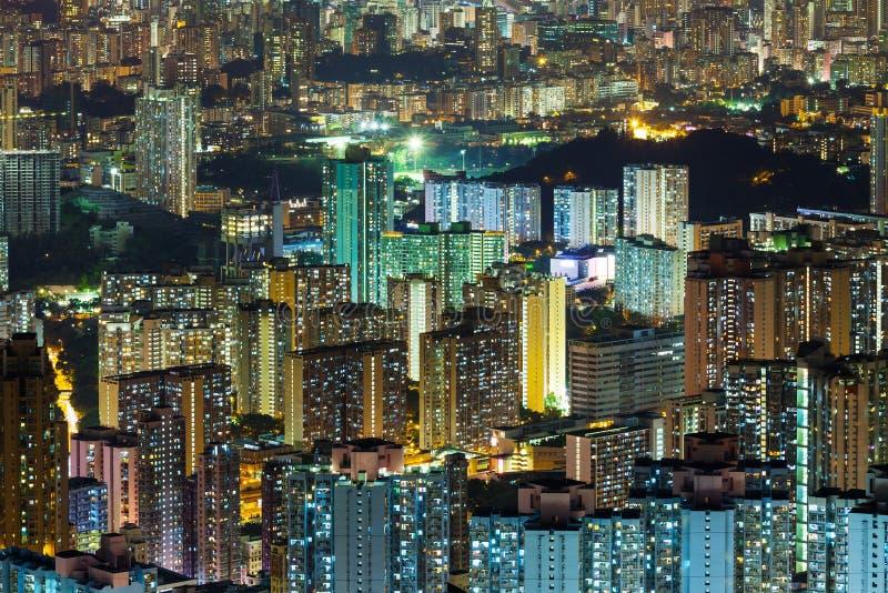 Download Ноча Гонконга стоковое изображение. изображение насчитывающей публика - 33737901