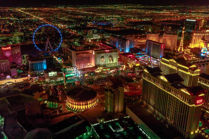Ноча горизонта Лас-Вегас стоковое фото rf