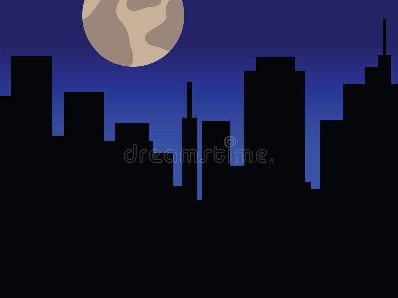 ноча города иллюстрация вектора