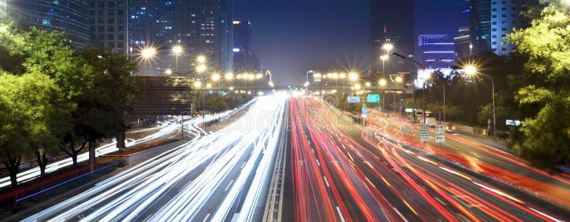 ноча городского пейзажа Пекин самомоднейшая стоковые изображения