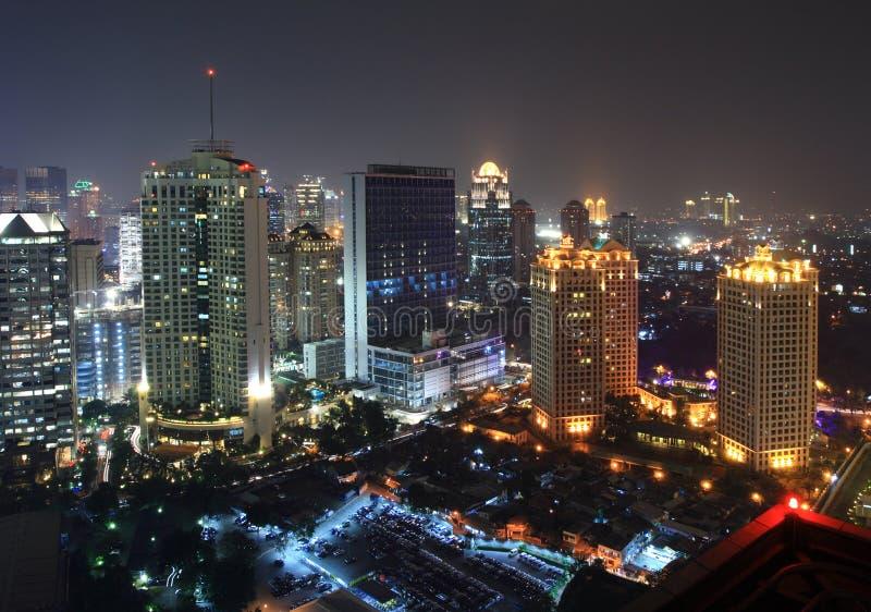 ноча городского пейзажа стоковые фото