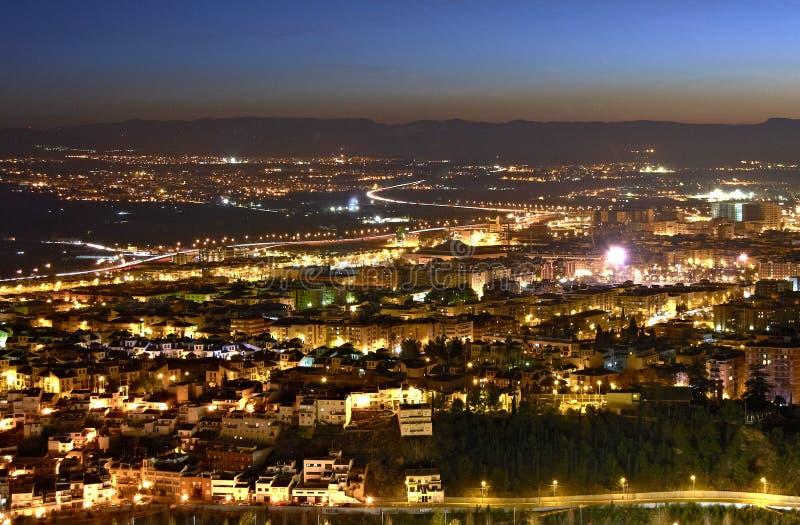 Ноча Гранады стоковое изображение rf