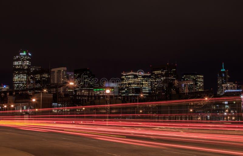 Ноча Денвера стоковые фото