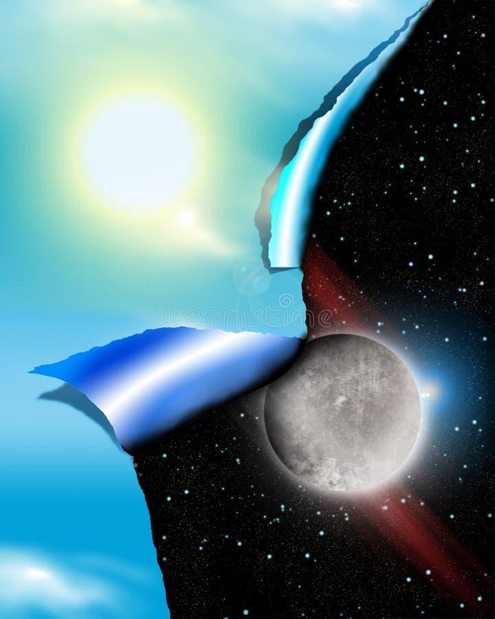 ноча дня иллюстрация вектора