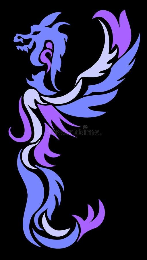 ноча дракона иллюстрация штока
