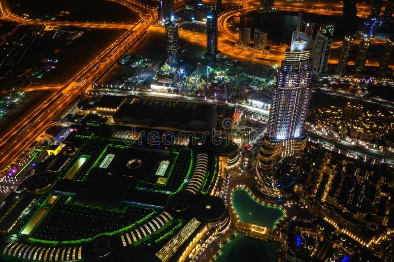ноча Дубай стоковые фото