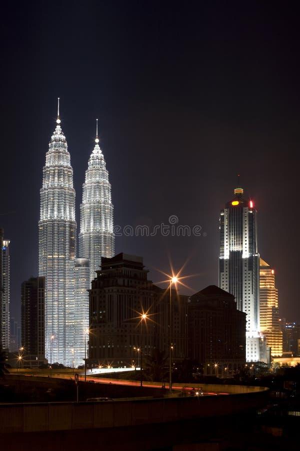 ноча зданий стоковые изображения