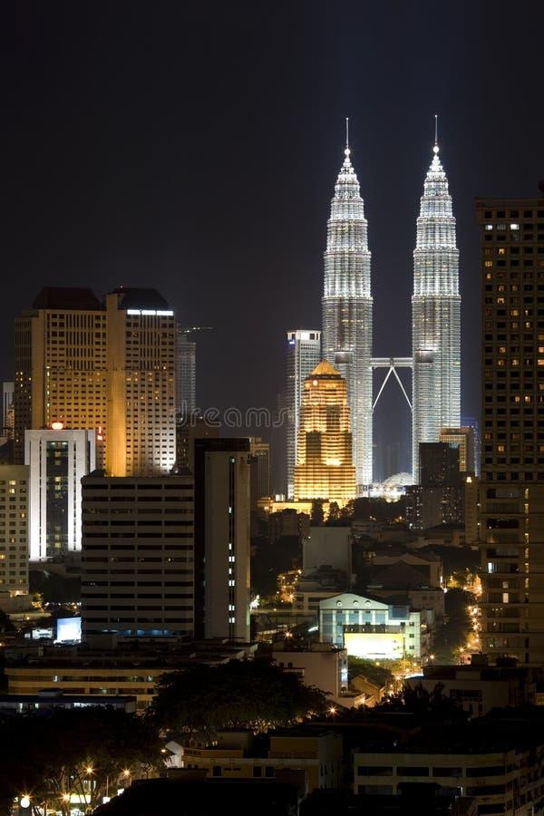 ноча зданий стоковое изображение