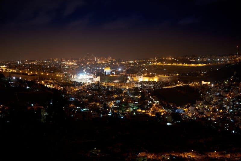 ноча Иерусалима стоковые изображения rf