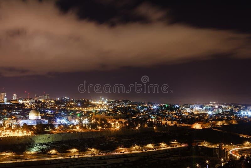 ноча Иерусалима стоковое изображение