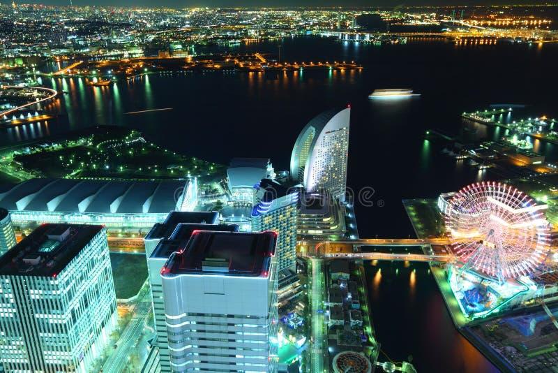 Ноча Иокогама стоковое фото