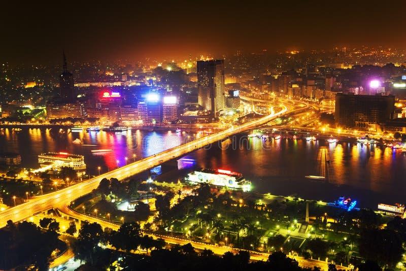 ноча Каира стоковая фотография