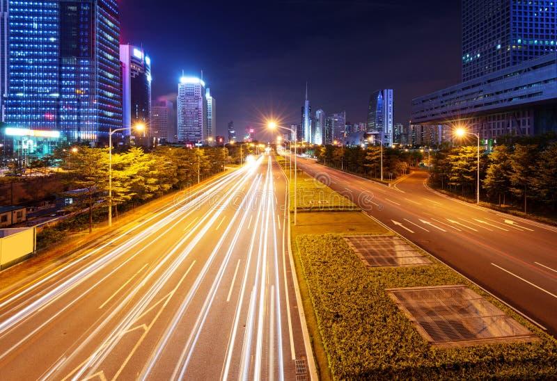 Ноча Китая Шэньчжэня стоковые фотографии rf