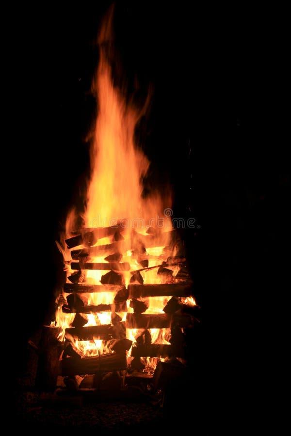 ноча костра стоковое фото