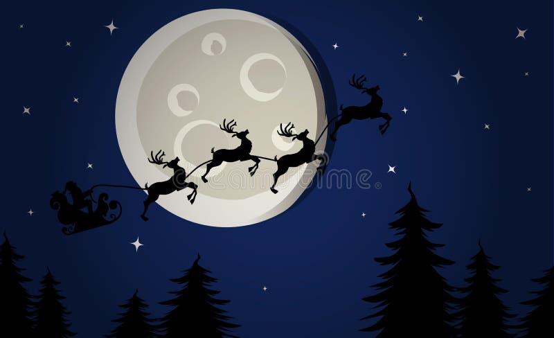 Ноча Кристмас иллюстрация штока