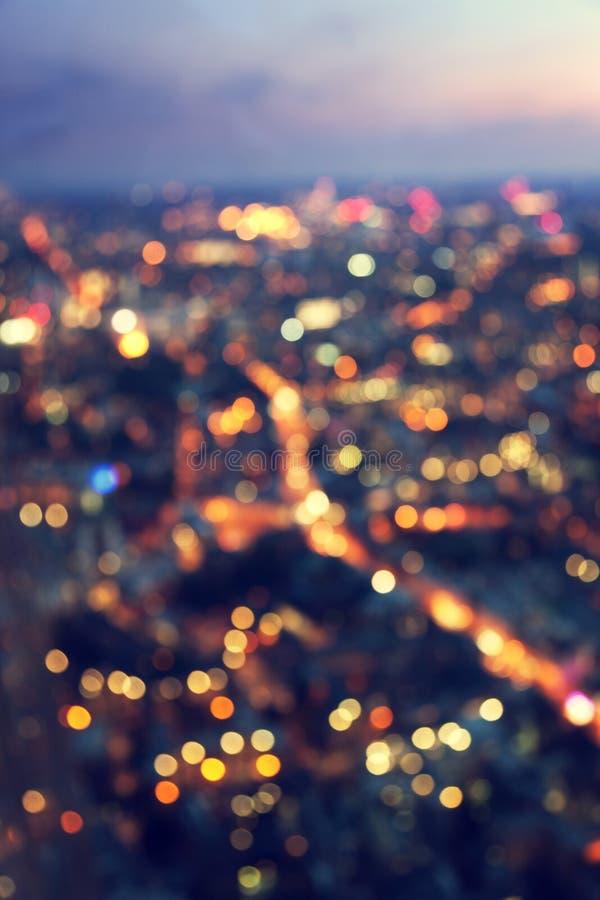 Ноча Лондон Bokeh (из фокуса) стоковые фото