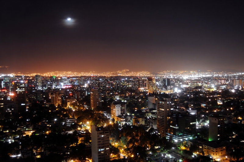 ноча Мексики города стоковые изображения
