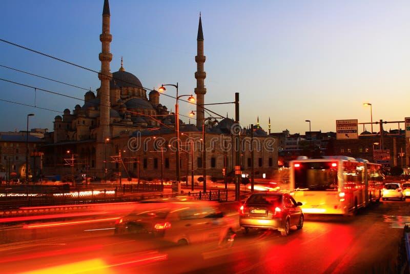 Ноча мечети Yeni стоковые изображения