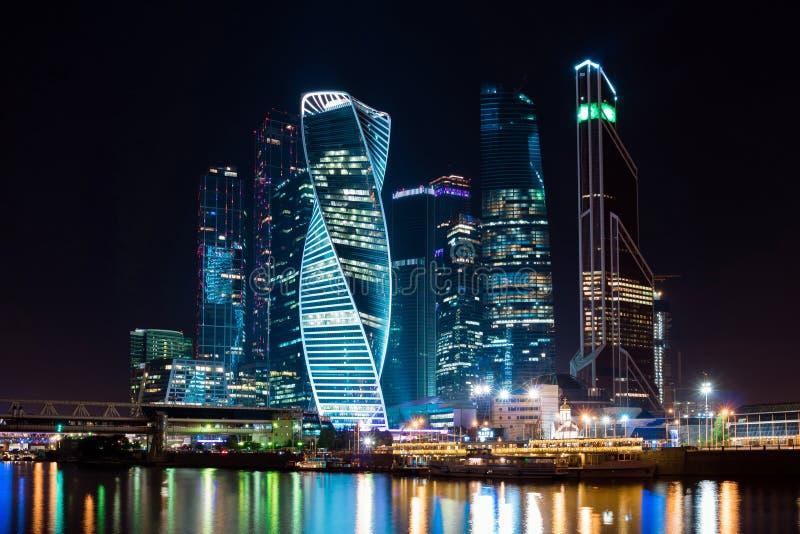 Ноча Москва в центре города стоковая фотография